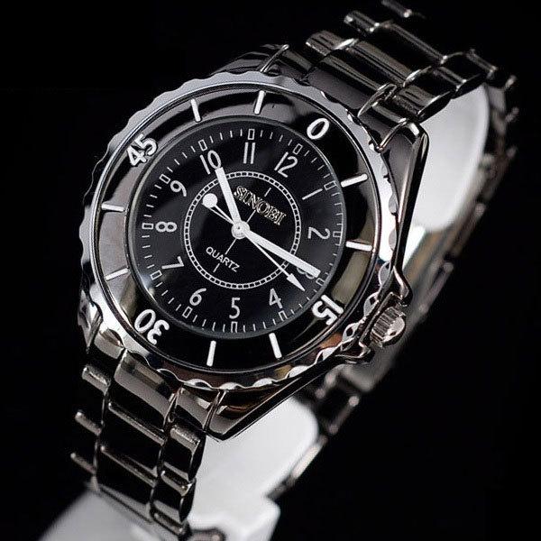 Платье sinobi часы для женщины керамика ремень роскошь марка кварцевый наручные часы s0301