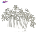 Zinc Alloy Animal Butterfly Flower Rhinestone Crystals Hair Combs Hairpin Women Wedding Hair Jewelry Bridal Accessories