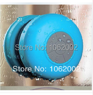 48pcs/lot Waterproof Water resistant Wireless Bluetooth Blue Tooth Shower Speaker Car Receive Call Music Suction Phone Mic+Box(China (Mainland))