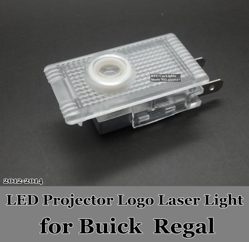LED car door projector logo laser shadow welcome light for Buick Regal 2012-2014!Wireless Plug&Play!(China (Mainland))