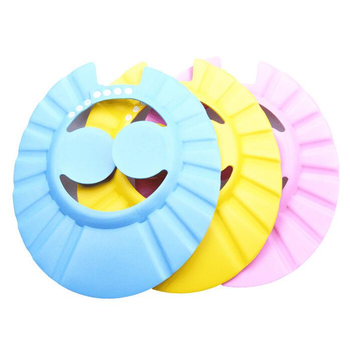 1 Pcs Adjustable Baby Kids Shampoo Shower Bathing Bath Protect Ear Wash Hair Cap Hat(China (Mainland))