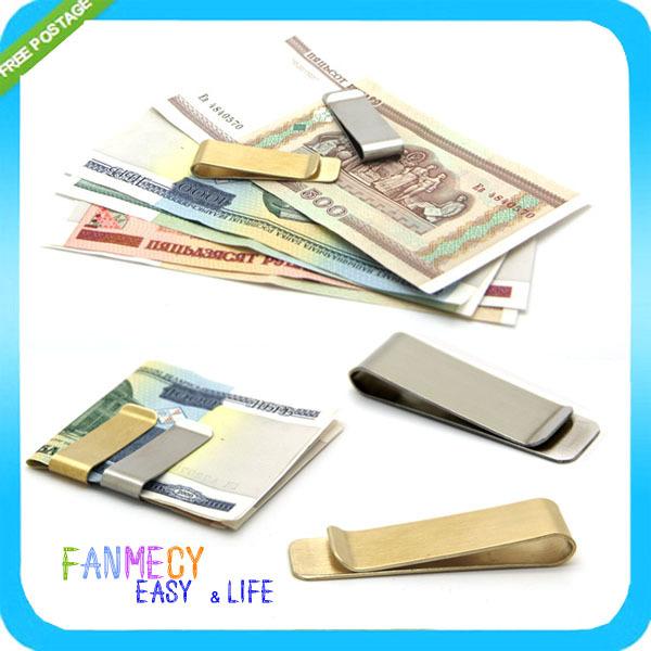 Silver Golden 2 Colors Men Stainless Steel Slim Money Clip Purse Card Clip Clamp Holder For Pocket Holder Credit Card<br><br>Aliexpress