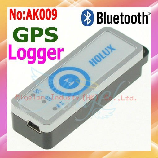 Wholesale HOLUX M-1200E Bluetooth GPS Receiver with GPS Data Logger Travel Recorder Free shipping #AK009