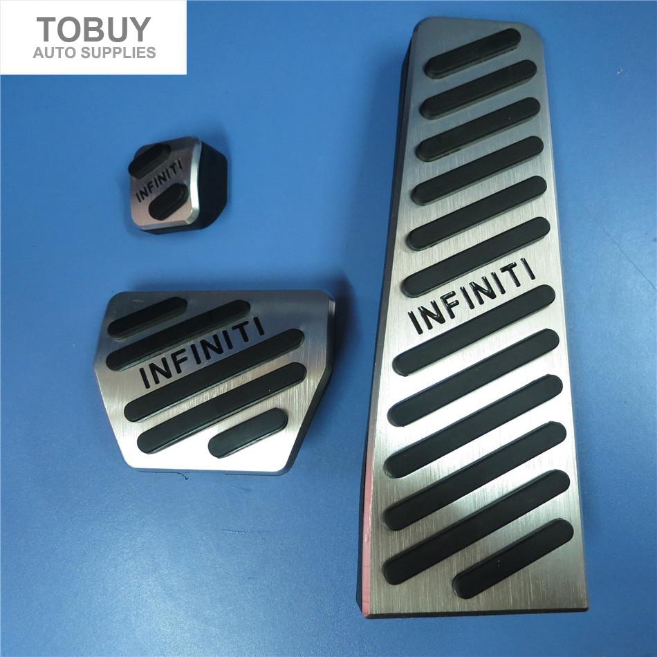 High quality Aluminium Alloy Accelerator Gas Brake Footrest Pedal Pads, Pedal Cover for Infiniti Q50/50L Q60 Q70L QX70 G-class(China (Mainland))