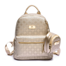 Women's Backpack Fashion 2016 Women's Leisure Grade Pu Bag Lingge Package Brand Girl Backpack(China (Mainland))