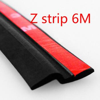 6M Z type adhesive car rubber seal Sound Insulation ,3M car door sealing strip weatherstrip edge trim noise insulation