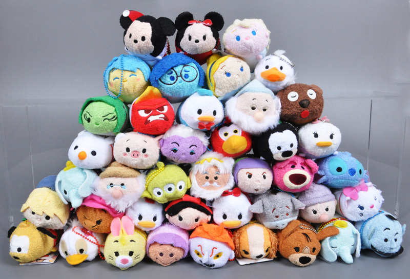 NEW Tsum Tsum plush toy Cartoon stuffed collectibles doll toys stuffed doll Mobile Phone Screen Wipe keychain hot toys(China (Mainland))