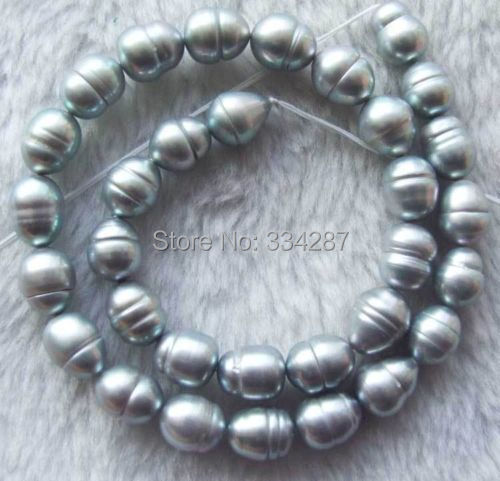 Grey Pearl Beads: Aliexpress.com : Buy 15inch 10x12mm Grey Freshwater Pearl