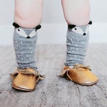 Feitong New Fashion Unisex Baby Girl&Boy 3D Fox Toddlers Kids Pattern Cute Cartoon Socks Knee High Socks Years meias infantil(China (Mainland))