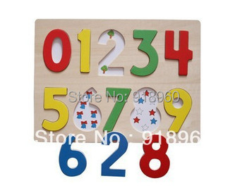 Digital Jigsaw Puzzle Wooden Toy 1-3 years old Hand Digital Board of Educational Toys For Children/TTJ