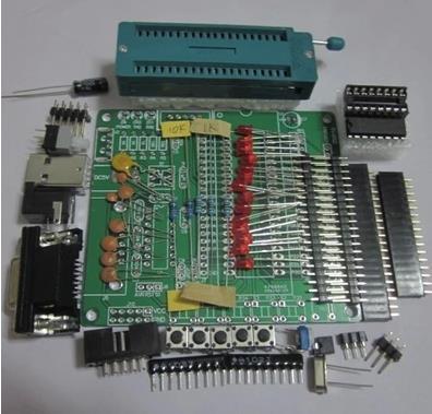 Free Shipping 1PCS 51/AVR microcontroller development board learning board DIY learning board kit set parts STC89C52 Sensors YF(China (Mainland))