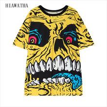 Hiawatha Women Skeleton T-shirts Fashion Harajuku Leopard Printed T shirts Casual Loose Tops Short Sleeve O-neck Tees T3193(China (Mainland))