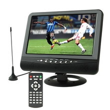9.5 inch TFT LCD color Analog TV with wide view angle Support SD/MMC Card USB Flash disk AV In/AV Out, FM Radio function