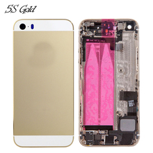 Rear Housing Assembly for iPhone 5 5C 5S Middle Frame Metal Back Battery Door Cover Case With Small Parts Pre-assembled