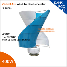 Vertical Axis Wind Turbine Generator VAWT 400W 12/24/48V S Series Light and Portable Wind Generator Strong and Quiet(China (Mainland))