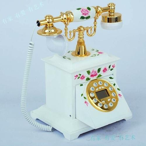 Electronic anti-theft telephone antique wood technology gift fashion phone xjf206c(China (Mainland))