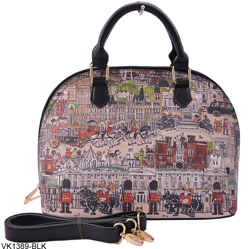2015 Fashion British Style Vintage London Print Shell Bag