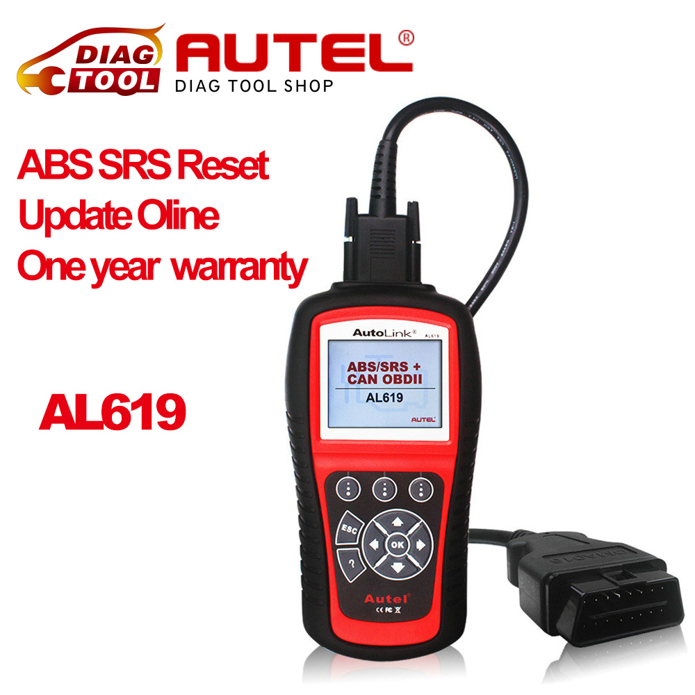 Autel Autolink AL619 ABS SRS reset CAN OBDII Diagnostic Scan Tool AL 619 Turn off Check Engine Light clears codes reset monitors(China (Mainland))