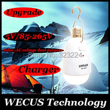 (WECUS)Free shipping,new design! Solar lamp,super light camping lamp,lamp for tent,5 LED 10W E27,solar/AC (85-265) dual purpose(China (Mainland))