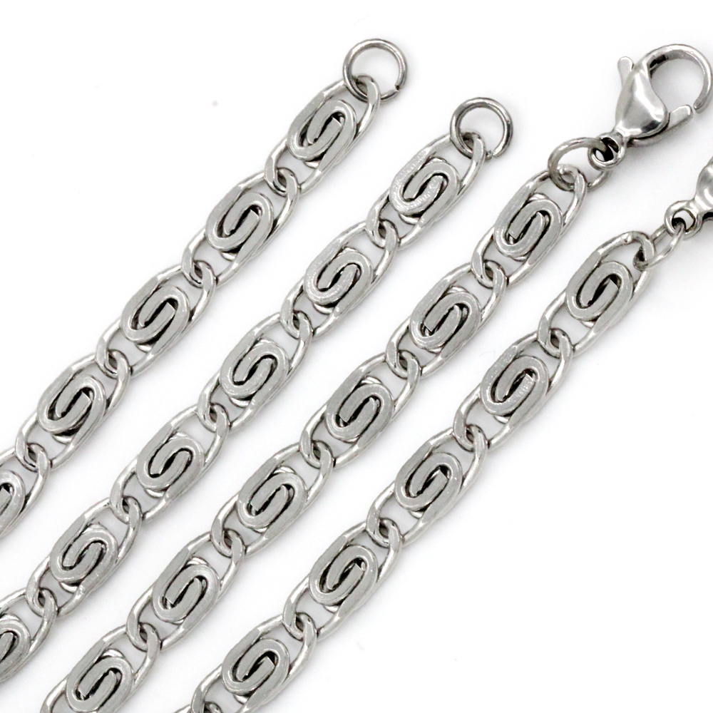 Fashion Men's jewelry Necklace 316L Stainless Steel chain necklace 55cm chain necklace For Male Top quality party gift(China (Mainland))