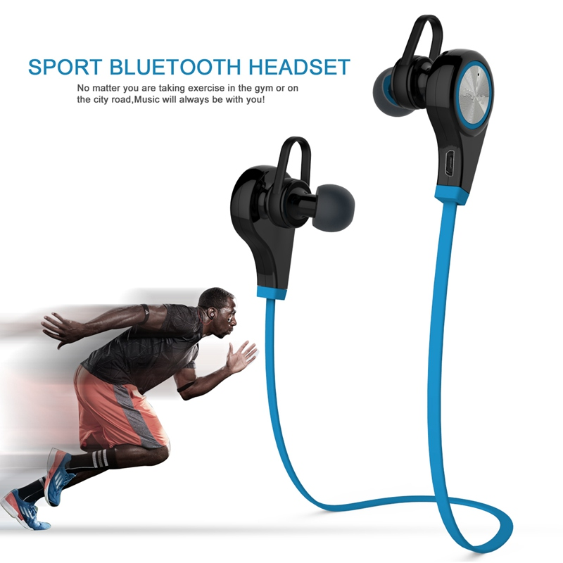 Bluetooth Earphone Wireless Sports Headphones In ear Headset Running Music Stereo Earbuds Handsfree with Mic for Smartphones(China (Mainland))