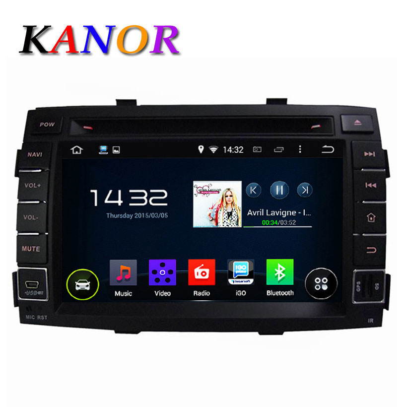 1024 600 Quad Core Android 4 44 car dvd gps for KIA Sorento 2010 2011 2012