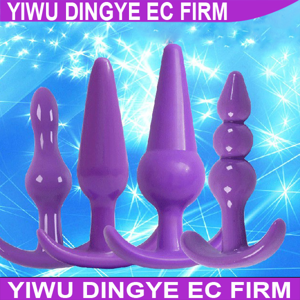 4pcs/set Silicone Anal Toys Butt Plugs Anal Dildo Anal Sex Toys Adult Products for Women and Men(China (Mainland))