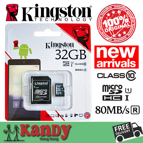 Kingston Class10 high speed micro SD card TF 8GB 16GB 32GB 64GB with SD Adapter Original Packing Warranty 25pcs/lot Free Ship<br><br>Aliexpress
