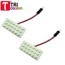 TRICOLOUR 100 X Festoon Dome Panel Light  18 SMD 1210 3528 LED Car Interior Roof Reading Working lights White Blue 12V #LL03(China (Mainland))