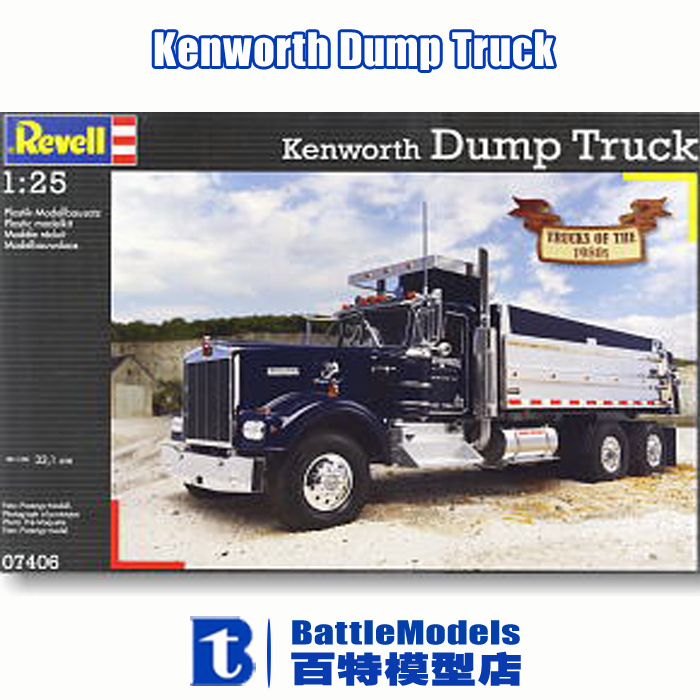 Фотография Revell MODEL 1/25 SCALE  military models #80-7406 Kenworth Dump Truck plastic model kit