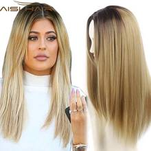 Blonde Ombre Wig Natural Cheap Hair Wig Long Straight Synthetic Wigs for Black Women Blonde Cheap Hair for Women Sale(China (Mainland))