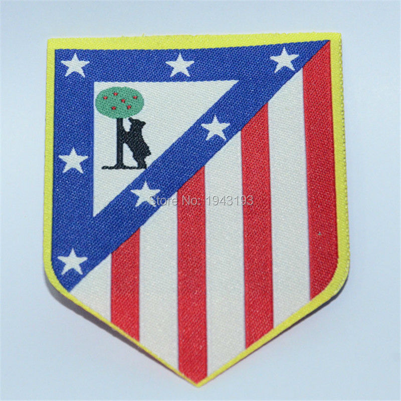 10PCS/lot patch badge Iron on for clothing maillot /Spain embroidered football badges logo soccer club atletico Patches(China (Mainland))