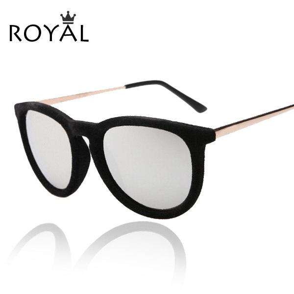 New 2015 Round Sunglasses Women Velvet sunglasses Vintage Keyhole Glasses Oculos De Sol Retro Sun glass SS067(China (Mainland))
