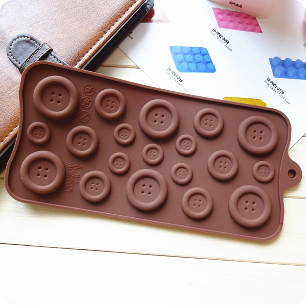 Silicone Button Chocolate Jelly Ice Muffin Sweet Candy Sugar Craft Fondant Mold Mould/ Tray Cake Decorating Tools, Xmas DIY - Tomshow store