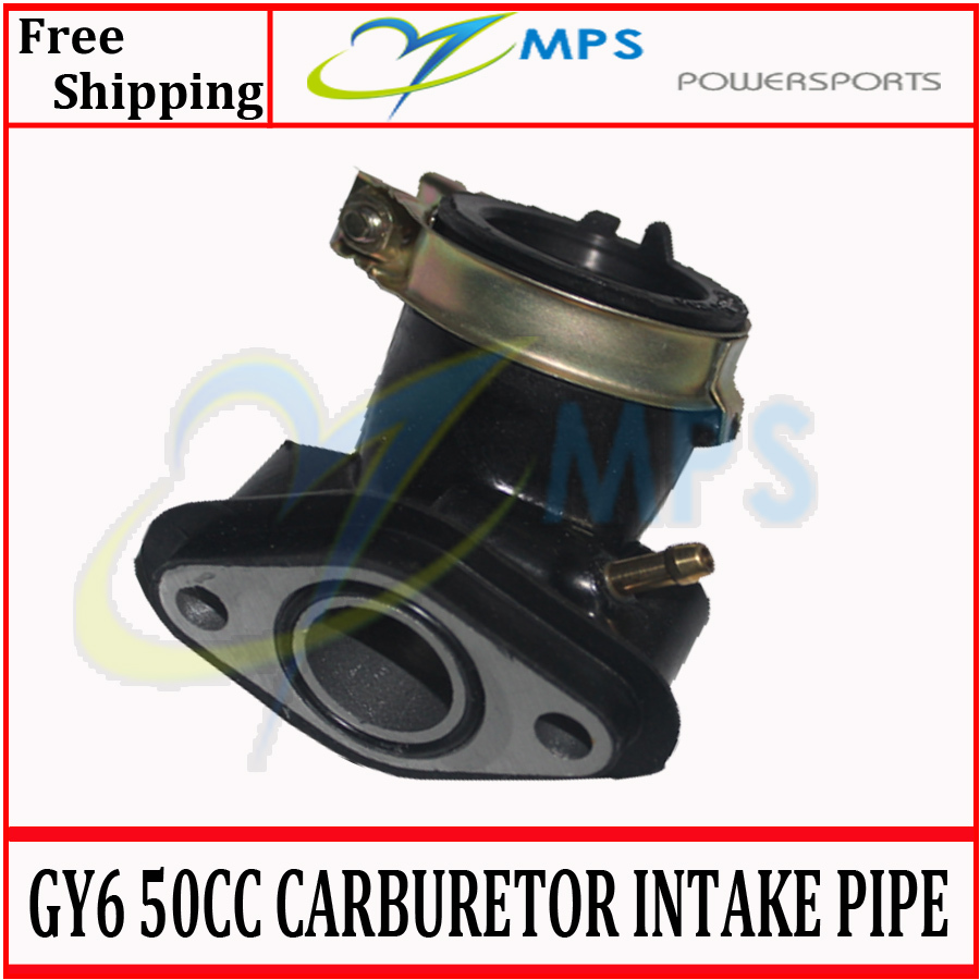 GY6 Scooter engine parts Carburetor Intake Manifold Pipe for 50cc 60cc 80cc 100cc 4T 139QMB engine chinese scooters, atv, Quads(China (Mainland))