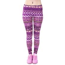 Zohra Brands Women Fashion Legging Aztec Round Ombre Printing leggins Slim High Waist  Leggings Woman Pants(China (Mainland))