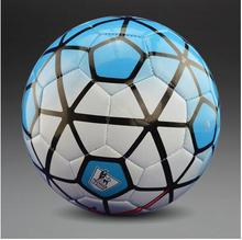 2015 New fashion  European league soccer ball Slip PU Size 5 Football ball Sky blue ball Free Shipping(China (Mainland))