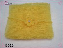 Wrap Mohair Knit Handmade Newborn Baby Girl Boy Infant Toddler Flower Headband Headwear Costume Photo Photography Prop Accessory(China (Mainland))