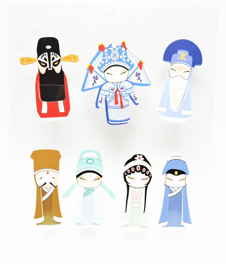 2016 New Chinese Style Bookmark For Books Kawaii Cute Gift 7Pcs different Pattern into One Set Bookmarker School Supplier Crafts(China (Mainland))