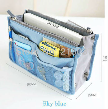 Free shipping Women Handbag Travel Insert Purse Large Multi-function Bag Storage Bags Amazing 5 Colors available