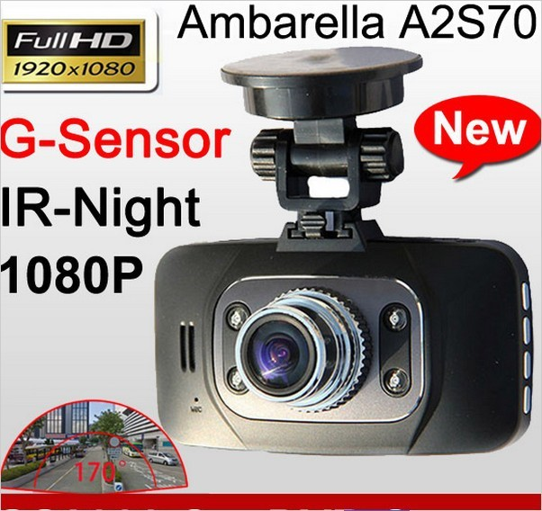 New Arrival Full HD Car Camera GS8000 1920X1080P 25fps G-Sensor IR Night Vision DVR Video Recorder 2.7 inch 140 Degree Angle