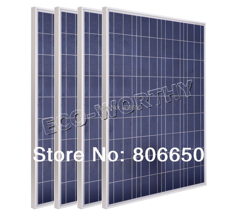 New USA Stock 1KW 10 x 100W 12V poly solar panel PV solar module RV boat cell charger free shipping(China (Mainland))