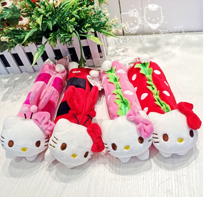 New Fashion Cartoon Cute Hello Kitty Pencil Case/Bag For School and Office,Free Shipping(China (Mainland))