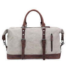 Vintage Canvas Crazy Horse Men Travel Bag Carry on Luggage Bag Women Duffle Bag Travel Tote Fashion Large Capacity Weekend Bag(China (Mainland))