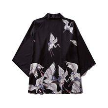 ثوب الكيمونو الياباني الرجال سترة قميص بلوزة يوكاتا الرجال haori اوبي الملابس السامرائي الملابس الذكور كيمونو سترة(China)