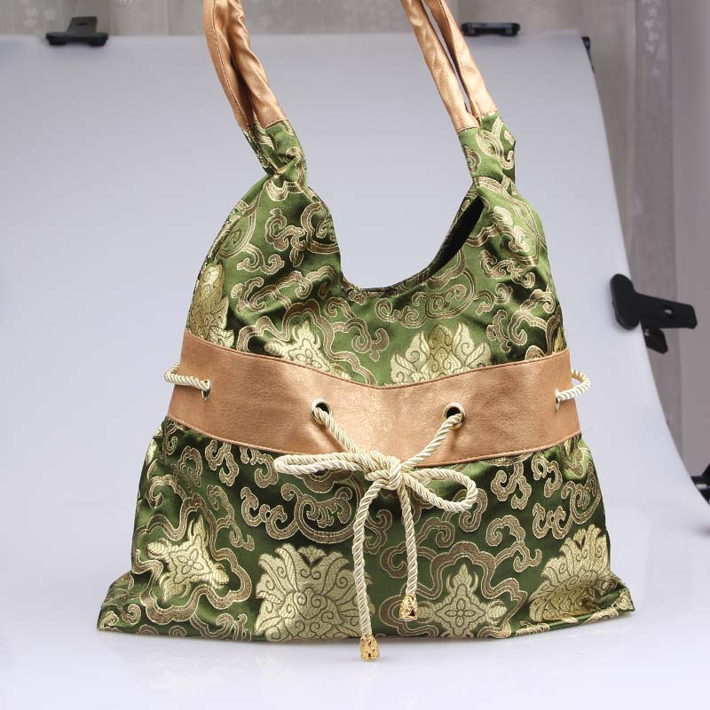 2015 Women Messenger Bags Bags The Characteristics Of Suzhou Craft Pack Brocade Handbag Bow Bag, Shoulder Tang Suit Collocation(China (Mainland))
