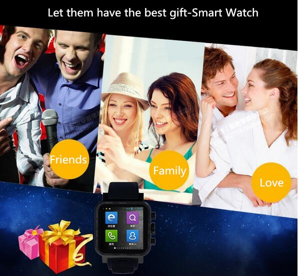 Watch 1.54-inch Touch Screen 4GB Waterproof WiFi Bluetooth Smart Watch for Android Smartphone Tablet PC