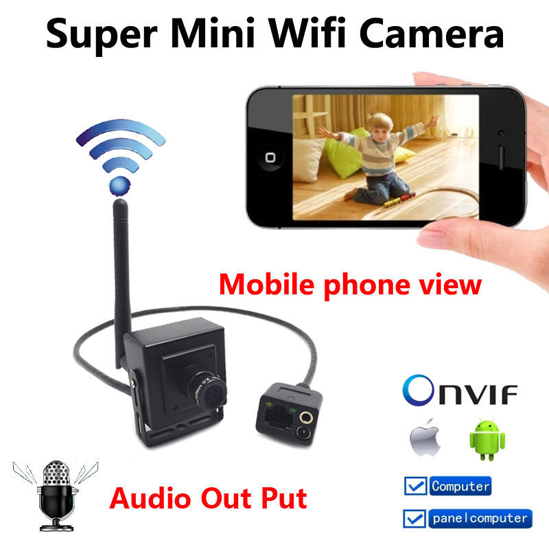 New Super Mini IP Camera wireless 720P cameras wifi CCTV Video audio Camera indoor H.264 Smallest 1.0MP P2P home security cam(China (Mainland))