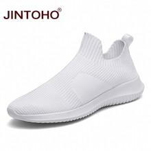 JINTOHO Sommer Mode Männer Turnschuhe Atmungsaktive Männer Mode Schuhe Slip On Sneakers Für Männer Günstige Männer Müßiggänger Schuhe Ohne Schnürsenkel(China)