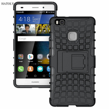 Buy Case Huawei P9 Lite Cover Soft Silicon & Plastic Shockproof Case Huawei P9 Lite Case 5.2 inch Phone Holder Stand Funda < for $2.59 in AliExpress store